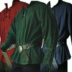 Men Landlord Knight Shirt Clothes Medieval Renaissance Lace