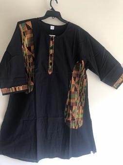 Men's African Kente Pant Suit Cotton 3 Piece dress Ethnic Cl