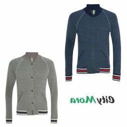 Men's Alternative Apparel Eco Cashmere Baseball Jacket, S, M