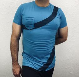 Beautiful Giant Men's Basic Plain Short Sleeve T-shirt Pocke