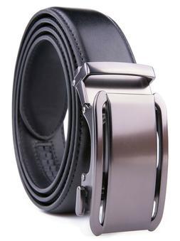 Men's Belt Leather Dress Belts for Men Ratchet Automatic Buc