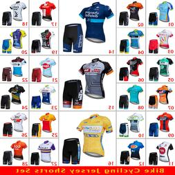 Men's Bike Cycling Jersey Short Sleeve Shorts Kits Road Cycl
