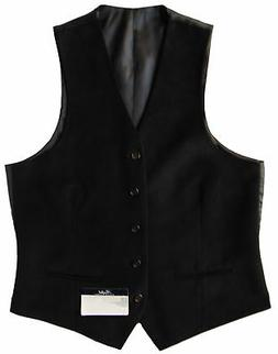 Men's RALPH LAUREN Black Velvet Suit Dress Vest 38R 38 Regul