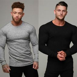 Men's Blank Long sleeves T-shirts Promotional Bodybuilding S