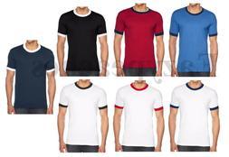 American Apparel - Men's Blend Ringer T-shirt, T, Crew Neck,