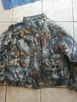 woolrich men's camo jacket real tree hardwood size s to m wi