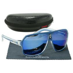Men's Carrera Sunglasses Gradient Blue Lens Ruthenium Pilot