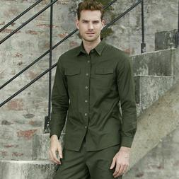 Men's Casual Shirts Clothes Twill Cotton Fashionable  Clothi