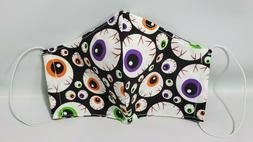 Men's Cloth Fabric Face Mask 100% Cotton Washable-Reusable M
