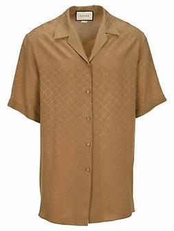 GUCCI Men's Clothing Shirts Beige NIB Authentic