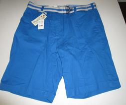 Men's Islandia Clothing Co. Imperial Blue Belted Flat Front