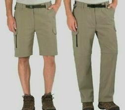 BC Clothing Men's Convertible Cargo Pants Shorts XL X 32  Zi