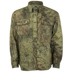 Cotton Mill Hunting Shirt for Men Camouflage Clothes Mossy O
