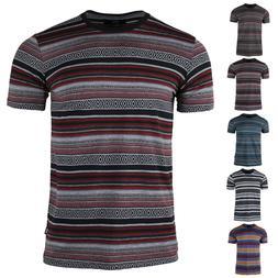 Men's Cotton Stripe T-Shirt Urban Casual Clothing Apparel To