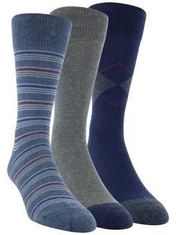 George Men's Fashion Crew Dress Socks 3 Pair Shoe Size 6-12