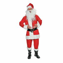 Men'S Faux Velvet Santa Costume - Apparel Accessories - 7 Pi