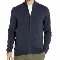 Amazon Essentials Men's Full-Zip Cotton Sweater - Size Large