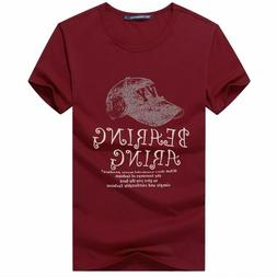 Men's Graphic Tees Printed Caps Pattern O Neck Cotton Casual