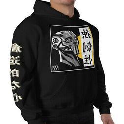 Men's Hoodie Mens Clothing Asian Japanese Kanji Pullover Gra