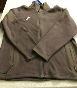 Charles River Apparel Men's Jacket Large Brown Polyester Cot
