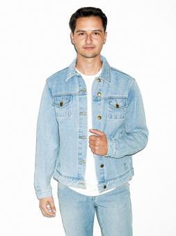 American Apparel Men's Light Wash Denim Jacket Size: XS, S,