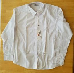 PAUL JONES Men's Modern Fit Dress Shirts, White, Size XL