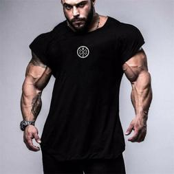 Men's Muscle Cut Stringer Workout Tank Tops Muscle Tee Bodyb