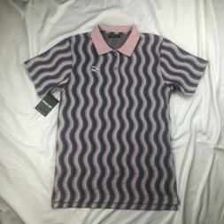 Pink Dolphin Men's Ocean Current Polo Short Sleeve Shirt Lig