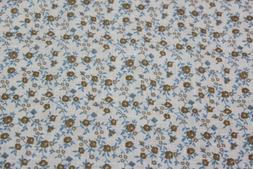 Strong Suit Clothing men's Olive/Blue Floral Pocket Square