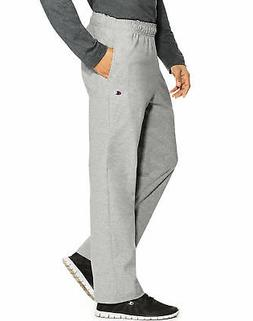 Champion Men's Open Bottom Jersey Pants Gym w/ Pockets Authe