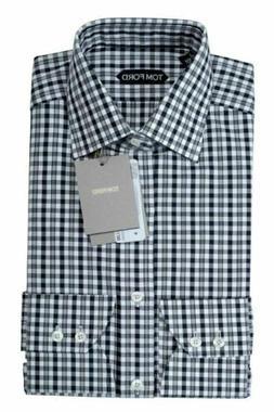 Tom Ford Men's Plaid Button-Down Dress Shirt Size 14.5 15