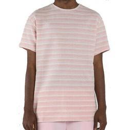Pink Dolphin Men's Plus Stripe T Shirt Pink Urban Casual Clo