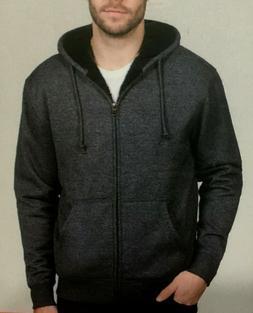 BC Clothing Men's Plush Lined Full Zip Hoodie
