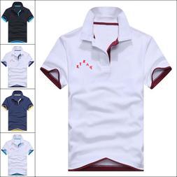 Men's Polo Short Sleeve T Shirt PARIS Fashion Classic Clothi