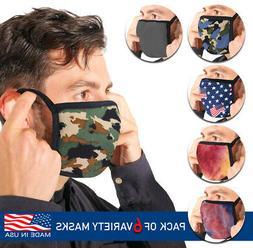 men s reusable camo face covers cloth