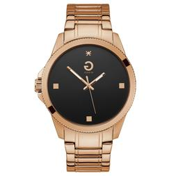 G by GUESS Men's Rose Gold Analog Dress Watch, Large Black D