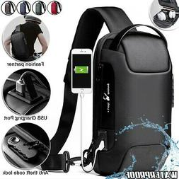 Men's Sling Backpack Oxford cloth Waterproof&Anti-theft Cros