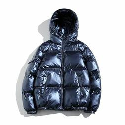 Men's Warm Jacket Hooded Winter Clothes Casual Outwear Coat