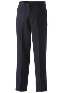 Men's Wool Blend Pinstripe Flat Front Dress Pant