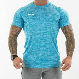 Men Short Sleeve T Shirt Bodybuilding Shirts Male Tee Tops C