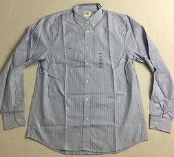 Lacoste Men Striped Dress Shirt Blue White Size 40 / M NWOT