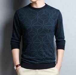 men sweaters o neck pullover clothes spring