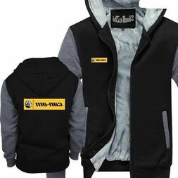 Men Warm Coat Cool Stripe Funny Hoodie Winter Fashion Top Ja