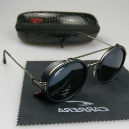 Men Women Retro Sunglasses Round Windproof Matte Frame Metal
