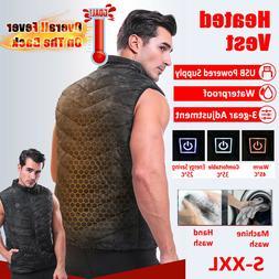 Men Womens Electric Vest Heated Cloth Jacket USB Warm Up Hea