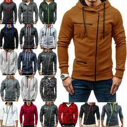 mens zipper hoodies warmer hooded jacket coats