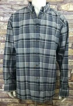 Nob Hill Mens 3XL Dress Shirt Navy/Gray Plaid Check NWT MSRP