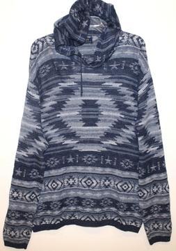Polo Ralph Lauren Mens Blue Southwestern Hoodie Sweater NWT