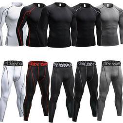 Mens Compression Shirt Vest Shorts Pants Gym Clothes Workout
