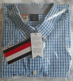 TOMMY HILFIGER Mens Dress Shirt Size L Blue Botton of Magnet